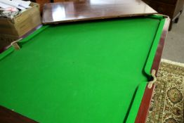"""Late 19th/early 20th century mahogany half size snooker/dining table """"Improved cushions by Ascots"""
