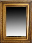 Gilt and gesso rectangular wall mirror with moulded frame 66cm x 47cm