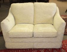 Good quality modern Parker Knoll two-seater sofa and matching armchair (2)
