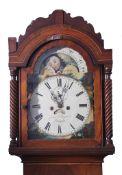 Jones & Taylor, Newport - early 19th century mahogany longcase clock, the arched dial with moon