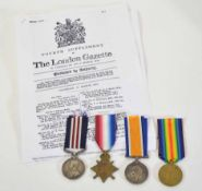 WWI Gallantry Medal group awarded to 4914 Pte (LC) J Elston of 9th Cycling Corps Battalion