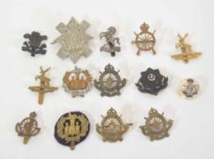 Quantity of 14 various WWI and Edwardian period British Cyclists Regiment cap badges to include 2