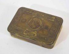 WWI 1914 Queen Mary Christmas tin lacking contents