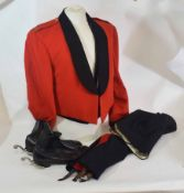Officer's mess dress, insignia for a Major in Royal Signal Regiment, with jacket, waistcoat,