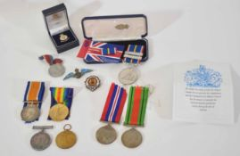 Pair of WWI medals consisting of War Medal and Victory Medal inscribed to 28849 Pte A Smith of