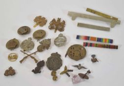 Small quantity of 20th century military cap badges and insignia to include 8th Battalion City of