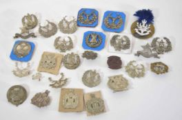 Quantity of Scottish Glengarry cap badges to include different variations of Cameron Highlanders and