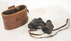 Pair of No 3 MKI British Issue 1916 binoculars by W Watson & Sons, London, in original 08 pattern