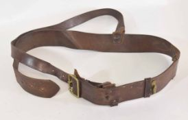 20th century Officers Sam Brown belt and cross strap