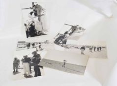 Quantity of six photographic prints of Field Marshall Bernard Montgomery returning to the North