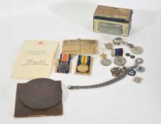WWI medal group pair consisting of 1914-1918 War Medal and Victory Medal in original envelope,