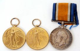 WWI pair comprising War Medals and Victory Medal impressed to 3311 Pte C Francis of Royal Norfolk