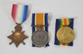 WWI medal trio impressed to twice wounded 2854 Pte George Steven Langston, to include 1914-1915