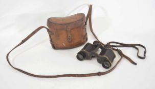 Pair of binoculars, No 3 MKII 1913 Ross of London, officer's private purchase, with leather strap