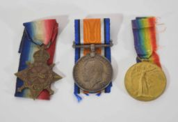 WWI medal trio to 3554 Pte George E Waine of Army Cycling Corps to include 1914-1915 Star, War Medal
