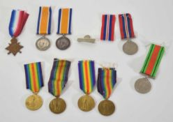 Quantity of WWI and WWI medals to include 1914-1915 Star, inscribed to 18/754 Victor Thurston Grimes