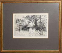 Herbert Menzies Marshall, RA, RWS, (1841-1913), 'The Embankment', 'The Tower of London', '