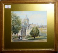 M H B (19th Century), 'The Olive College, Sevonoaks', watercolour, initialled lower right, 20 x