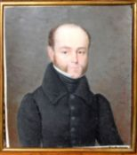 LeGenvre (19th Century), Potrait of a Gent wearing Black Jacket, portrait miniature, signed nd