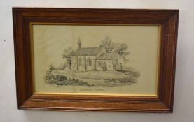 After John Berney Ladbrooke, Titled Norfolk Churches, group of six black and white stone