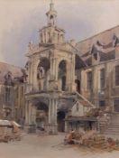 "Allen Edward Everitt (1824-1882) , ""Rouen"" , watercolour , 45 x 34cm Provenance: Thomas Agnew &"