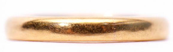 22ct gold plain polished wedding ring, Birmingham 1979, 4.4gms, size L
