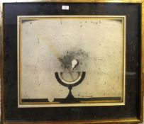 "•AR Friedrich Meckseper (1936-2019), ""Eine Sonne nuhr"", coloured print, signed, dated 69 and"