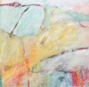 "•AR Rosamond Cardigan (20th century), ""Landscape Dance 1"" and ""Downland 2008"", pair of mixed medias,"
