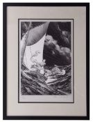 """•AR Bernie Wrightson(1948-2017), """"The Unknown"""", limited edition print, signed and numbered 36/300 in"""
