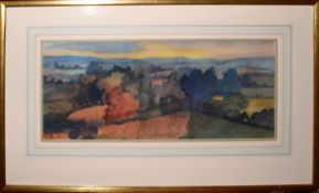 •AR William Redgrave (1903-1986), Landscape with country house, watercolour, signed and dated 1972