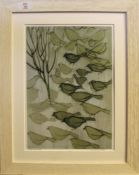 "•AR Nicholas Barnham (born 1939), ""Birds in the snow"", photographic print, signed and inscribed with"