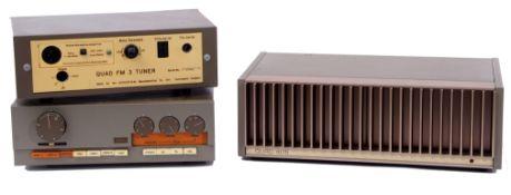 Quad 33 pre-amplifier FM3 tuner, 405 power amplifier (3)