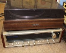 Pioneer hi-fi system comprising, CT-F2121 tape deck, PL-120 II turntable, SX-535 stereo receiver (3)