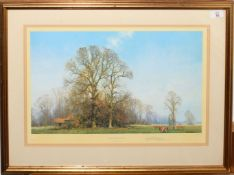 """•AR David Shepherd, OBE (1931-2017), """"Last leaves of Autumn"""", artist's coloured proof with"""