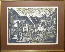 •AR John Aldridge (1905-1983), Castle Street, Saffron Walden, artist's proof lithograph, 30 x 40cm