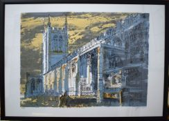 """•AR John Piper, CH (1903-1992), """"Long Melford Church"""", lithograph, signed and numbered 250/275 in"""