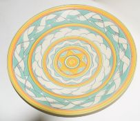 Poole Studio pottery dish with a design of seagulls, by Karen Brown, with factory marks and