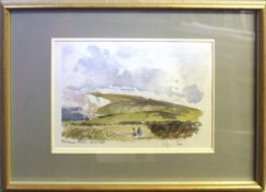 "•Sir Hugh Casson (1910-1999), ""Tennyson Down, Isle of Wight"" (271/500) and ""Buckland Abbey"" (185/"