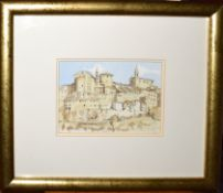 •AR John Booth (born 1941), Continental town, pencil and watercolour, signed lower right, 14 x