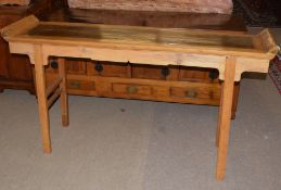Chinese Chippendale style altar table, 165cm wide