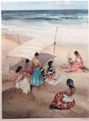 "•AR Sir William Russell Flint, RA, PRWS (1880-1969) , ""Gitanas a la Galera"", artist's coloured proof"