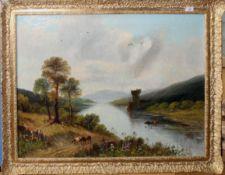 English School (19th/20th century), Highland scene, oil on canvas, 67 x 88cm