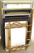 Group of eight Victorian and later assorted picture frames, various sizes (8)