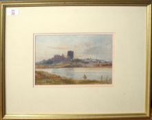 Lena Fuller (19th/20th century) Christchurch Priory, Dorset from the North East, watercolour, signed