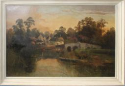 R Allan (19th century), River landscapes, pair of oils on canvas, both signed, 39 x 59cm (2)