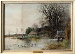 "Henry Charles Fox, RBA (1855-1929), ""Mapledurham Mill"", watercolour, signed and dated 1905 lower"