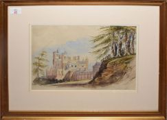 "Cecilia Montgomery (1792-1879), ""Merevale House"", watercolour, signed lower right, 25 x 35cm"