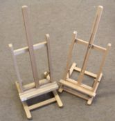 Two artist's table/display easels (2)