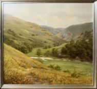 Richard Tratt (born 1953), Mountain river landscape, oil on canvas, signed and dated 1983 lower