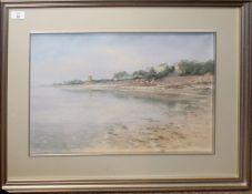 Diana Bowen (born 1949), Estuary scene, pastel, signed lower right, 35 x 52cm